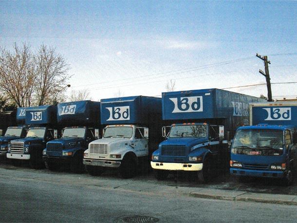 flotte de camions de Brault Déménagement